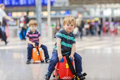 Luggage for a family holiday - Trunki
