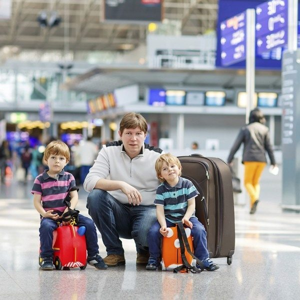 Preparing for a family holiday - getting to airport