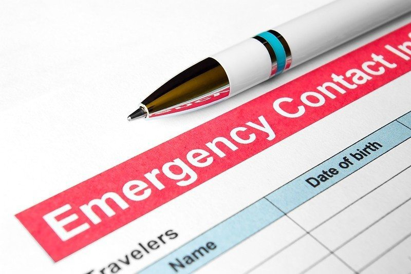 Home arrangements when on holiday - emergency contacts