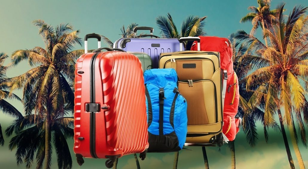 Luggage for a family holiday